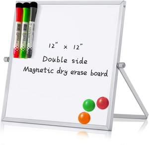 Desktop Mobile Foldable Portable Mini Double Sided Small Dry Erase Magnetic Erase White Board Whiteboard for Home Office