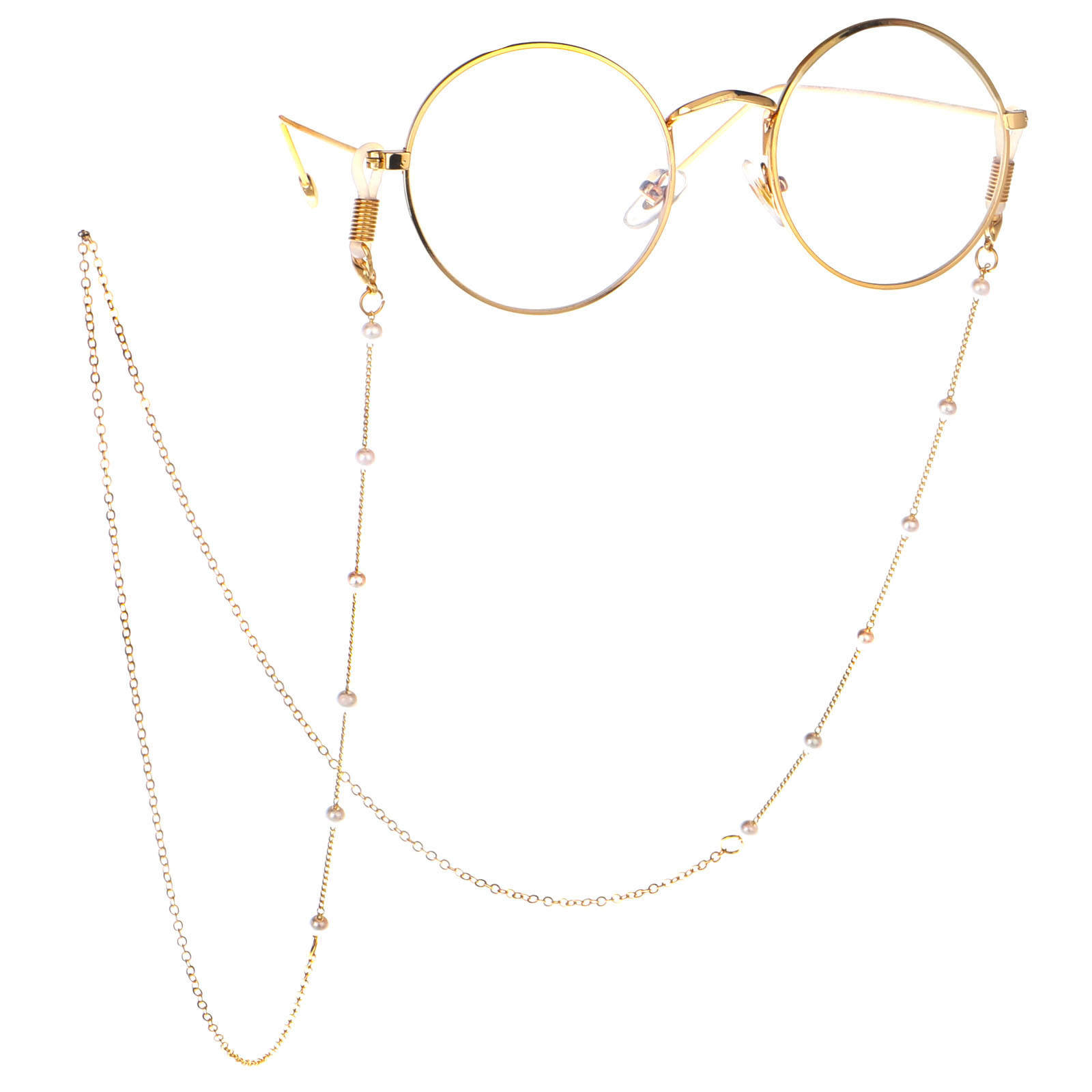 Fashion Link Womens Gold Silver Eyeglass Chains Sunglasses Reading Beaded Glasses Chain Eyewears lines