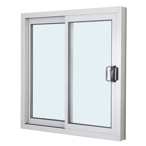 Sound proof aluminum framed double glazed sliding window with mosquito screen