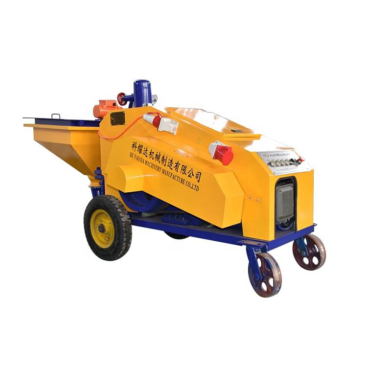 Cement Mortar Spraying Delivery Plasterin Cement Mortar Spraying Machine