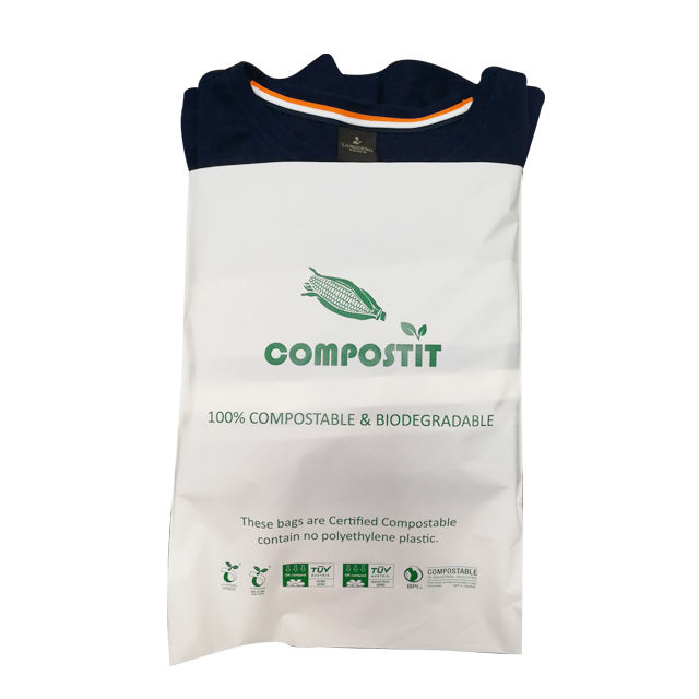 A4 custom compostable plastic shipping bags mailer for clothing