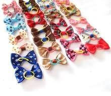 Variety Of Options Christmas Pet Hair Accessories Hair Clip Dog Polyester Bow Cat Hair Accessories For Puppy