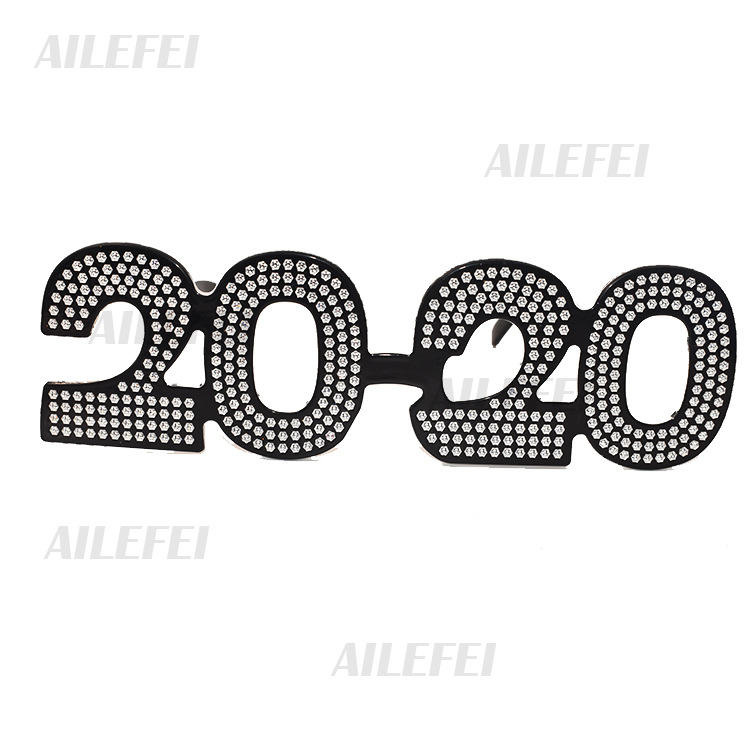 New Year 2020 Digital Flash Pink Glasses, party sunglasses