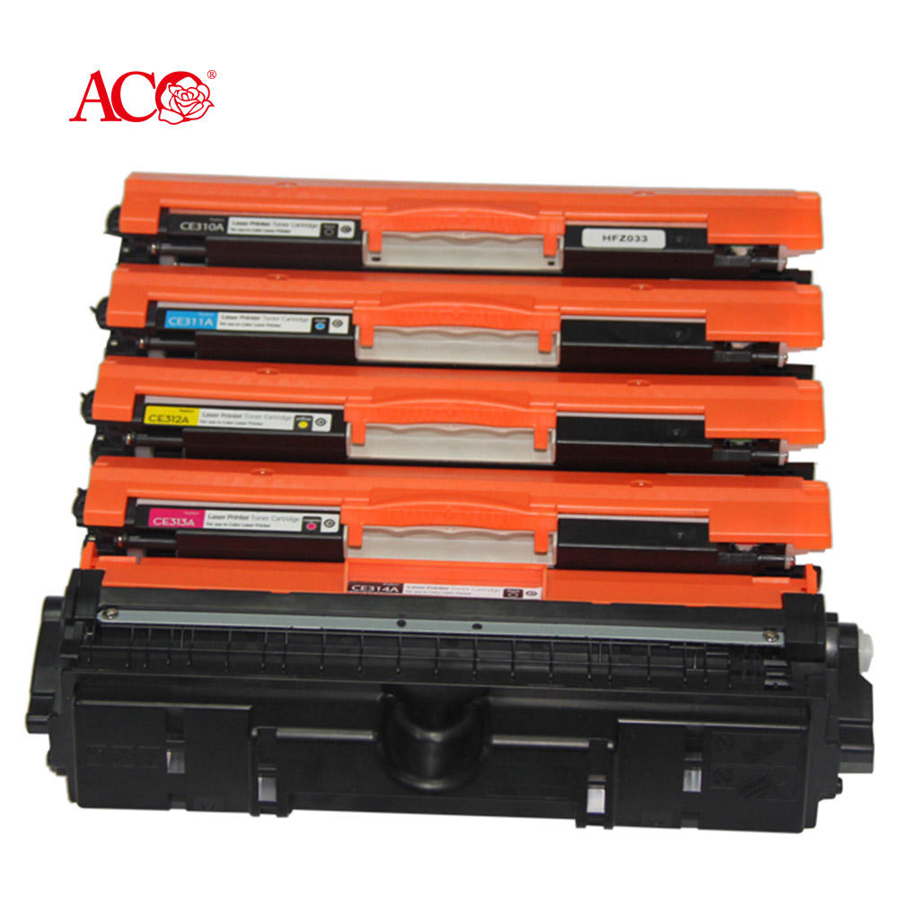 ACO Brand Factory Stock Wholesale CE310A CE311A CE312A CE313A 126A Toner Cartridge Universal Compatible For HP