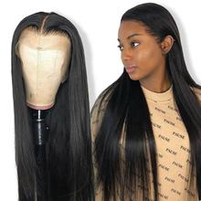 Factory Price Long Silky Straight Peruvian Virgin Hair Wig Natural Black Human Hair Lace Frontal Wigs for Women