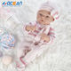 Full silicone lifelike little silicone girls doll toys set for sale