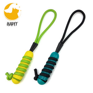 2021 New Upgrade Durable Interactive Training Toy Cotton Rope Squeaky Dog Chew Toy