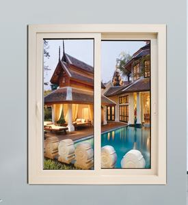 Australian Standard PVC Profile Frame Sliding Window Double Glazed UPVC Windows