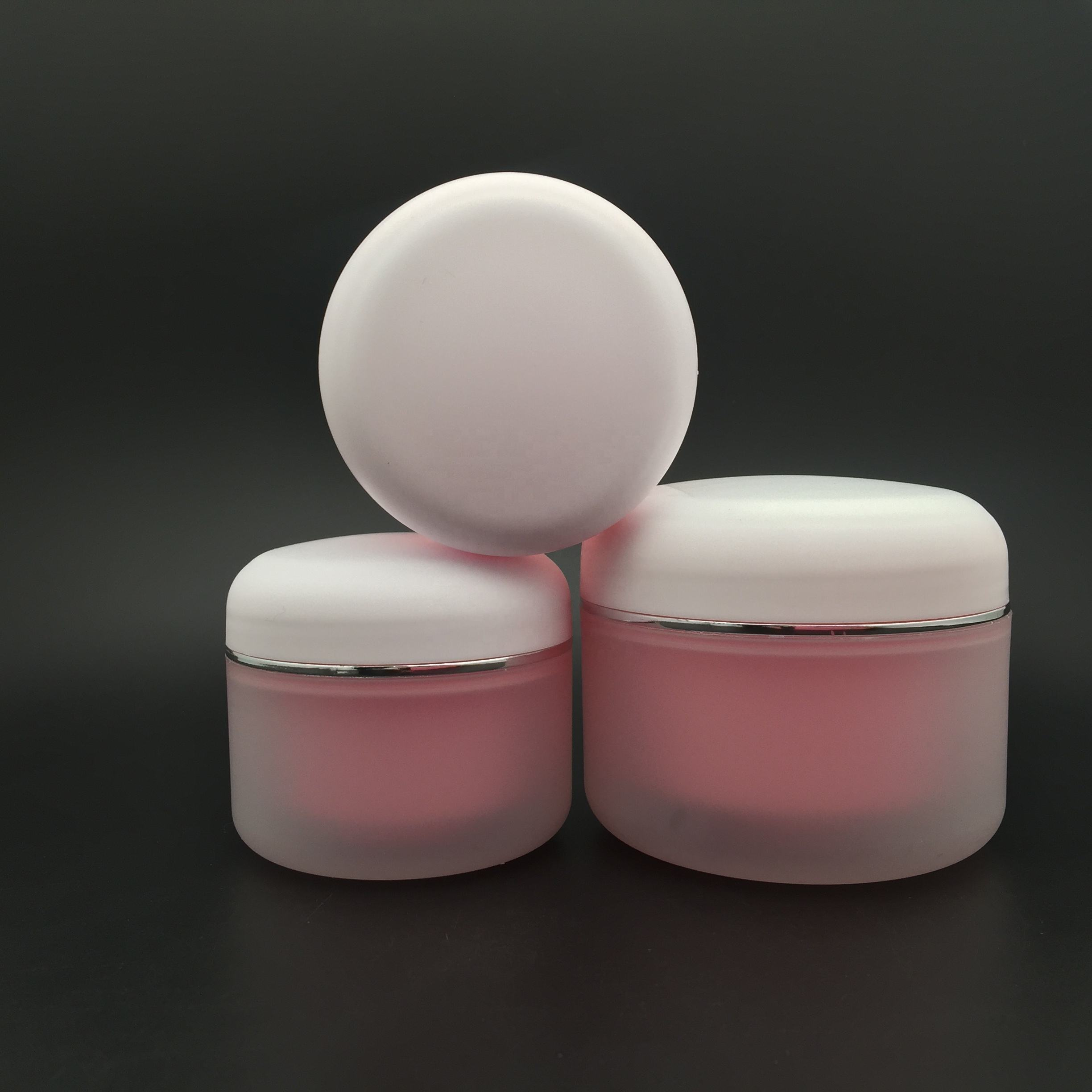 30g 50g 80g 100g 150g frosted and pink double wall PP plastic cream jar