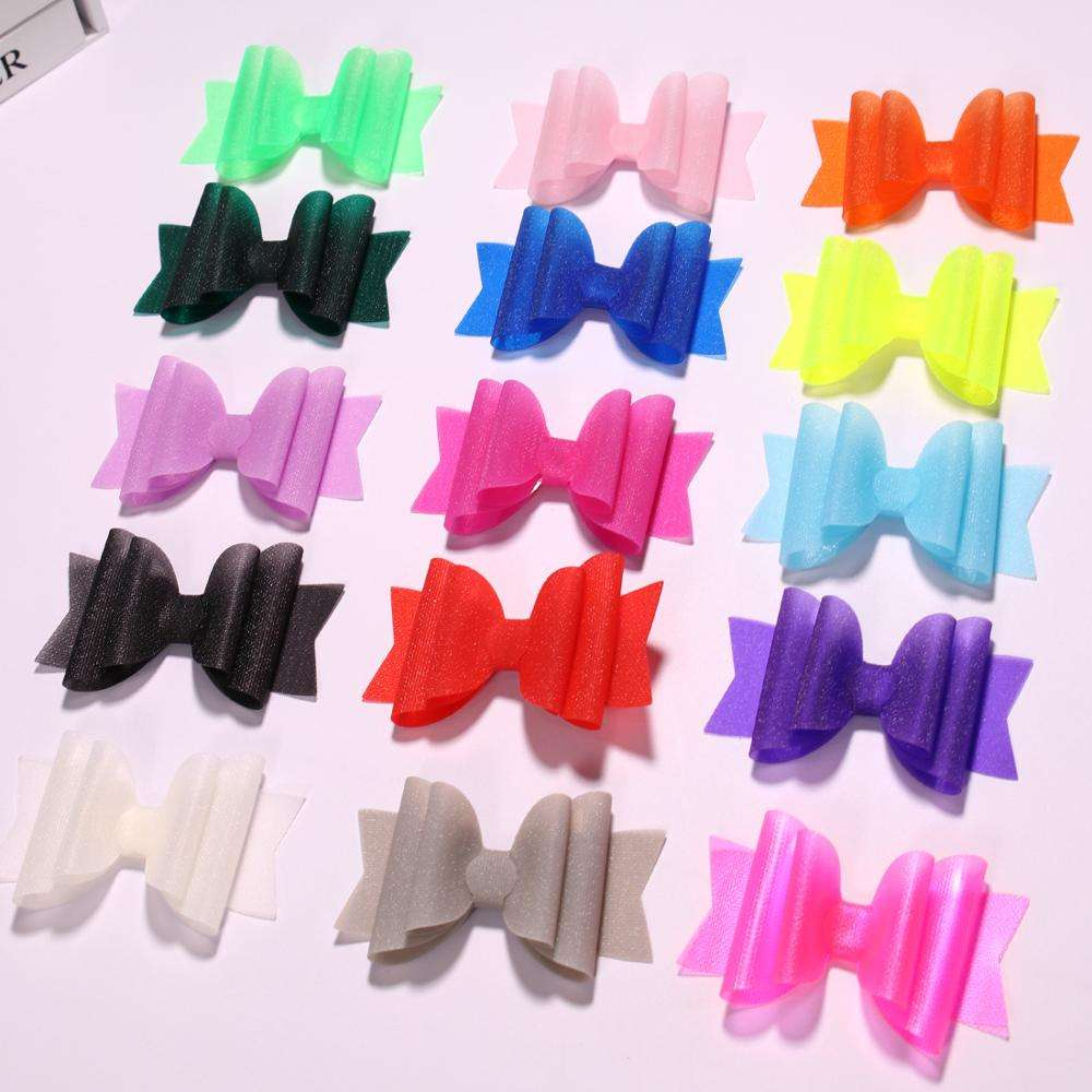 3.5inch Princess PVC Hair Bows Hairgrips Hair Clip Girls Women Hair Accessories for Party