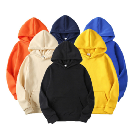 OEM Logo Men Plain Fabric Sweatshirts And Hoodies Mens Fleece Hoodies Set Plain Hoodies
