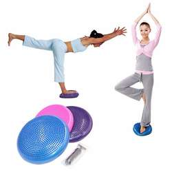 Inflatable Yoga Balanced Ball Fitness Massage Plate Cushion
