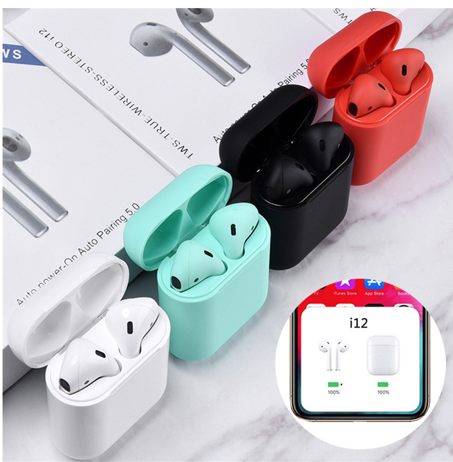 Trending 2019 amazon POPUP i12 tws BT 5.0 Touch wireless earphone & headphone