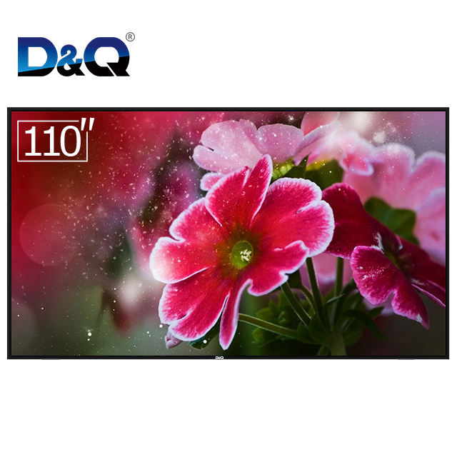 Factory 110 inch android 4k smart wifi TV internet LED television led tv for sale