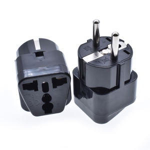 European travel plug adapter type F round 2 pins 4.8mm Germany France korean schuko wall charger eu plug