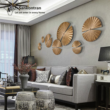 Wholesale Welding Round Shape Abstract Decoration Metal Wall Art Hotel China Home Decor