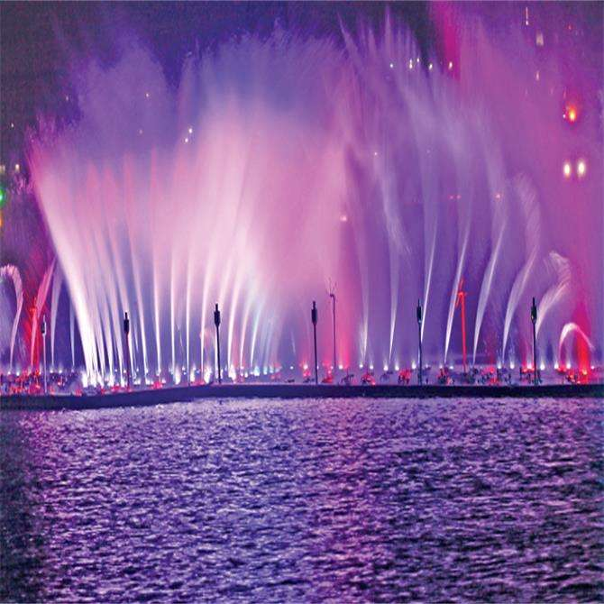 Lake Floating Fountain Outdoor Water Amazing Musical Dancing Fountains LED Water Fountain Equipment