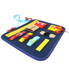 Travel Educational Toys Kids Quiet Boards learn to dress Activity Boards toddler toys felt Sensory Busy Board