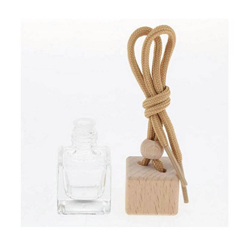 Avertan 5ml 8ml 10ml Wholesale wooden cap diffuser hanging car glass perfume diffuser bottle