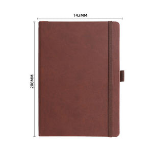Custom logo design printing pages agenda personalized weekly daily planner A5 PU leather hardcover 2021 journal diary notebook