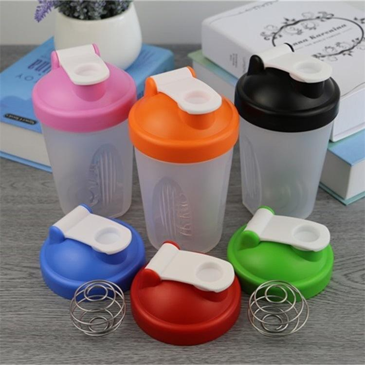 QM healthy life 400ml plastic gym protein shake bottle for sport plastic sport water bottle with handle