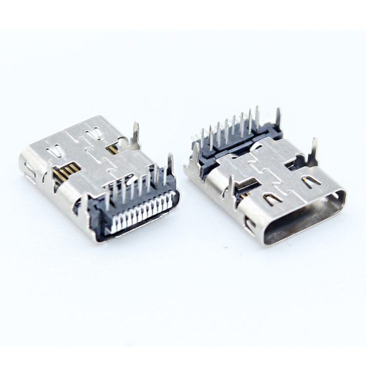 Brass Charging Port Price Usb Port XYFW A22 LCP USB 3.1 Type C 26pin Female Connector Usb Charging Port