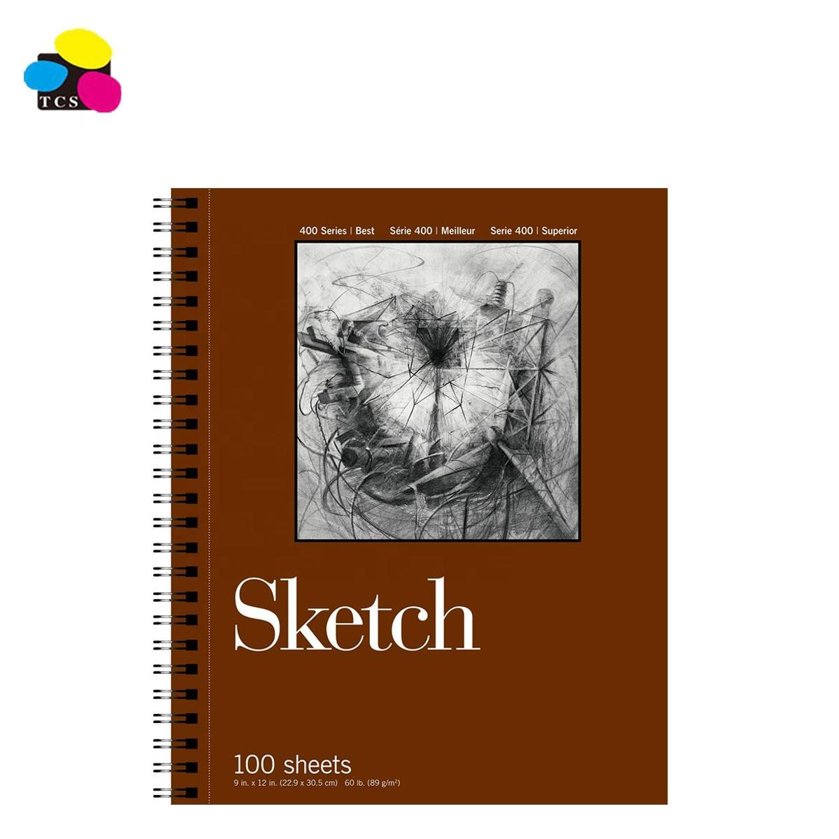 Alibaba Top Seller 2 Pack 9x12 Inches 50 Sheets Wire Bound Sketch Pad Heavyweight Sketch Paper