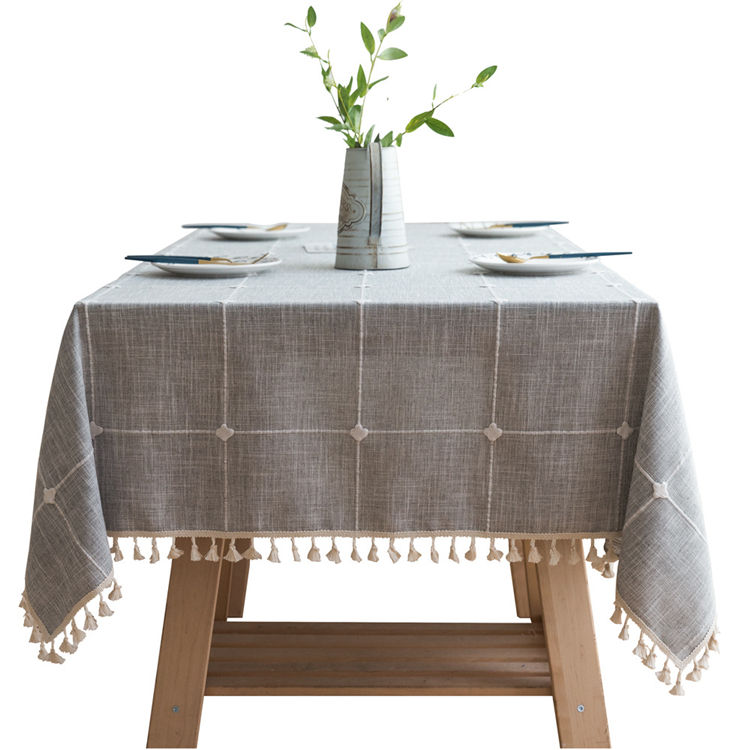 Fabric wholesale European-style simple dining table and tea table cloth mat craft tablecloth