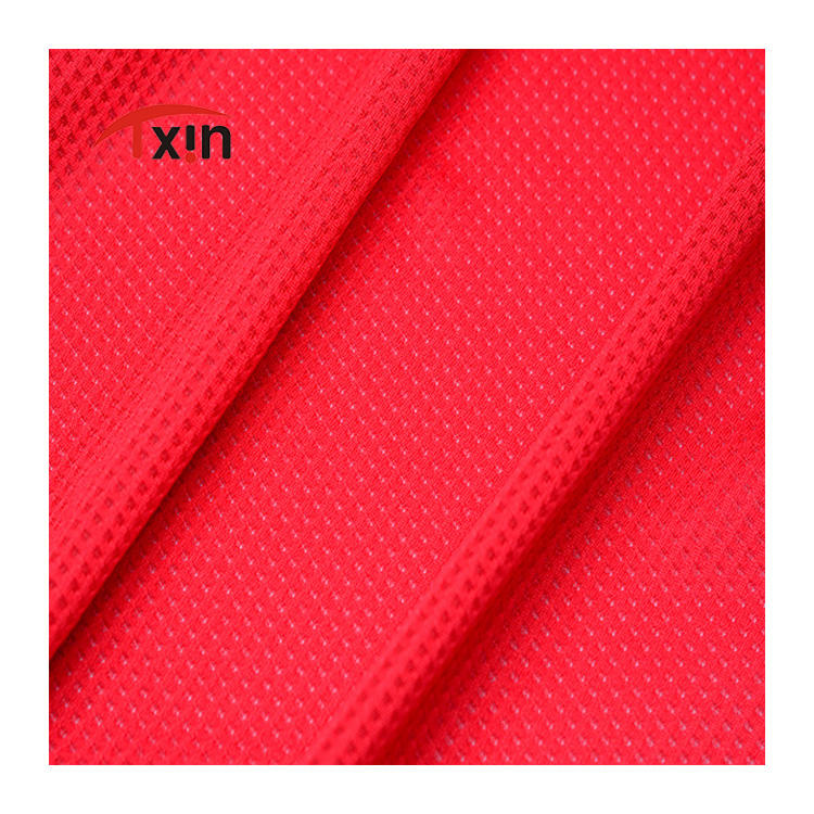 cool Dry star shape tow-side textiles fabric for outdoor sports wear
