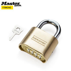 MASTER LOCK Combination Code Lock Anti-theft Padlock Solid Thick Brass Locks for Factory Warehouse Anti-rusting Waterproof