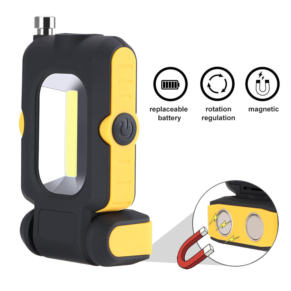 3 Mode COB LED Work Light Magnetic Flashlight Inspection Lamp Hand Torch Camping Tent Lantern With Telescopic Magnetic Rod
