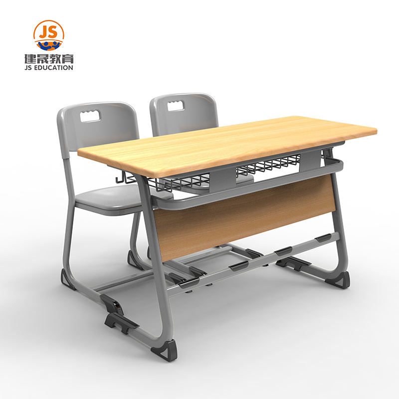 School Equipment Furniture Student Double Seat Desk Chair Classroom Ergonomic Study Desk Desk And Chair