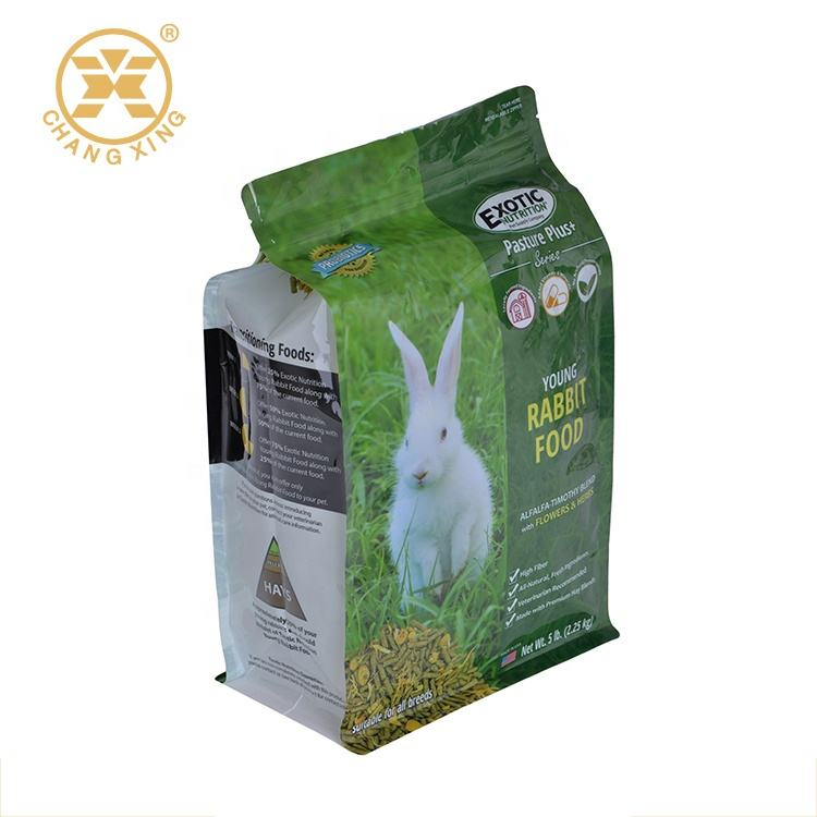 PET/PE Laminated Hamster/Rabbit/Guinea Pig Dried Food Packaging Bag Pet Food Plastic Bag Manufacturing Plastic Containers