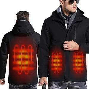 Sidiou Group USB Waterproof Heating Jacket Men and Women Heated Hiking Jacket Trekking Softshell plus size jacket