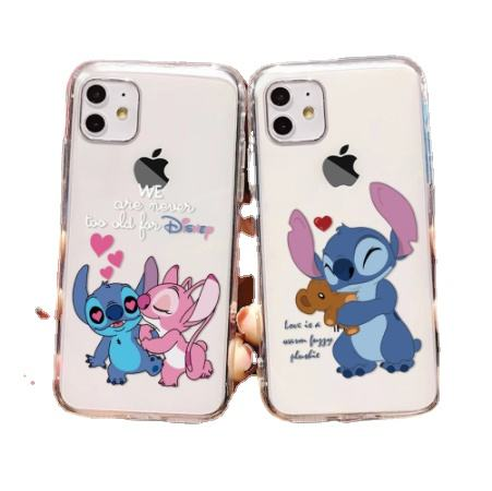 For VIVO V19 V17 V15 Pro Soft Case Phone Casing TPU Silicone Cover Cartoon Lilo Stitch Angel Sweetheart Shockproof Clear Cases