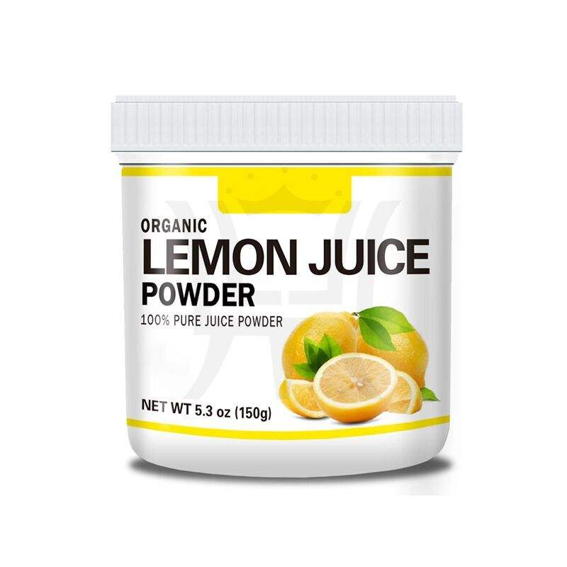 Private Label Organik Jus Lemon Powder Suplemen Non GMO Bebas Gluten Sumber Antioksidan & Vitamin C