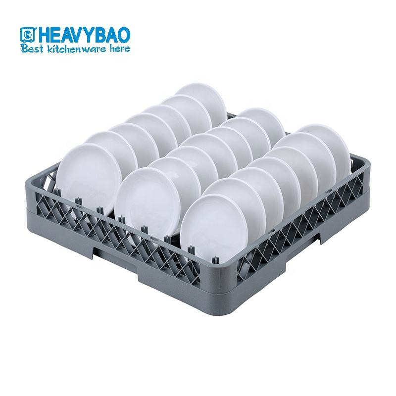 Heavybao Drying Plastic PP Stackable Dish Rack For Restaurant