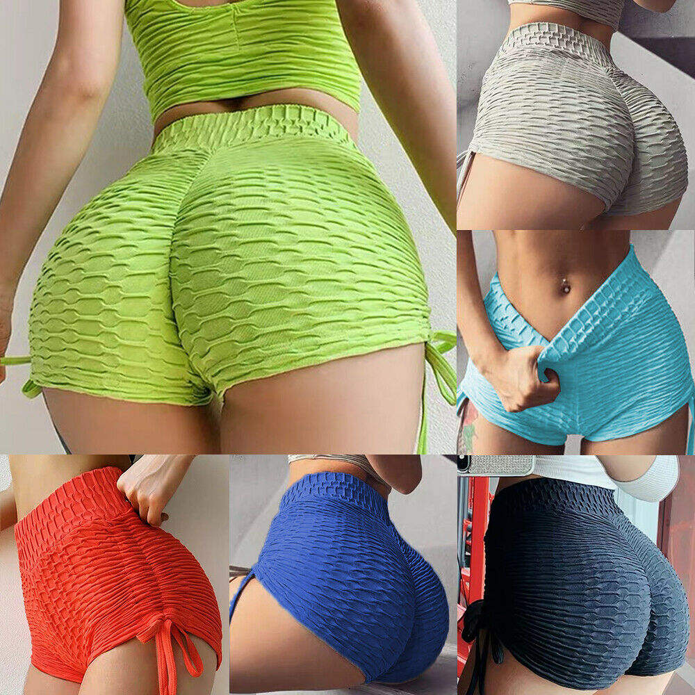 USA Warehouse Sexy Women Slim Fit Candy Color Short Yoga Pants