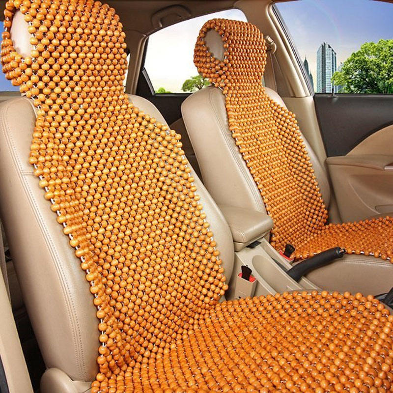 Handmade design wooden bead car seat cover for summer
