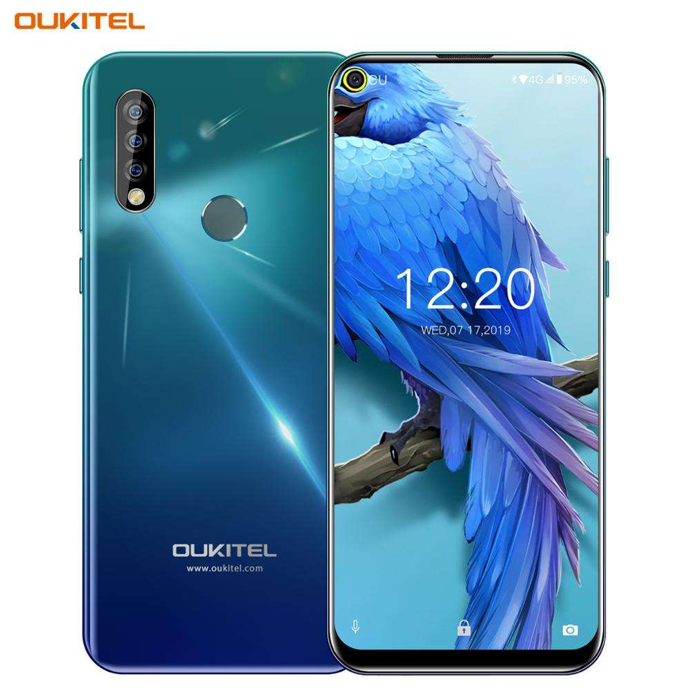 Newest 6.35 inch punch hole screen smartphone Oukitel C17 Octa core 3GB+16GB 3900mah 3 rear cameras Android 9.0 4G mobile