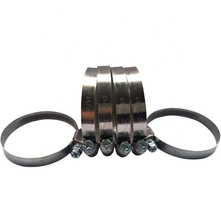 high pressure 304 stainless steel automotive Germany type hose clamps