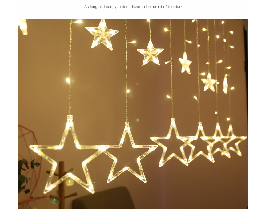 2019 Most popular product twinkle star colorful christmas holiday decorative waterproof led curtain light
