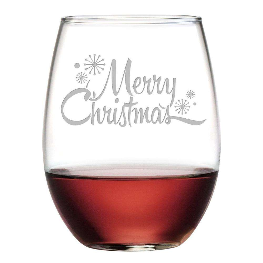 personalized customized engraved stemless wine glass for business gifts