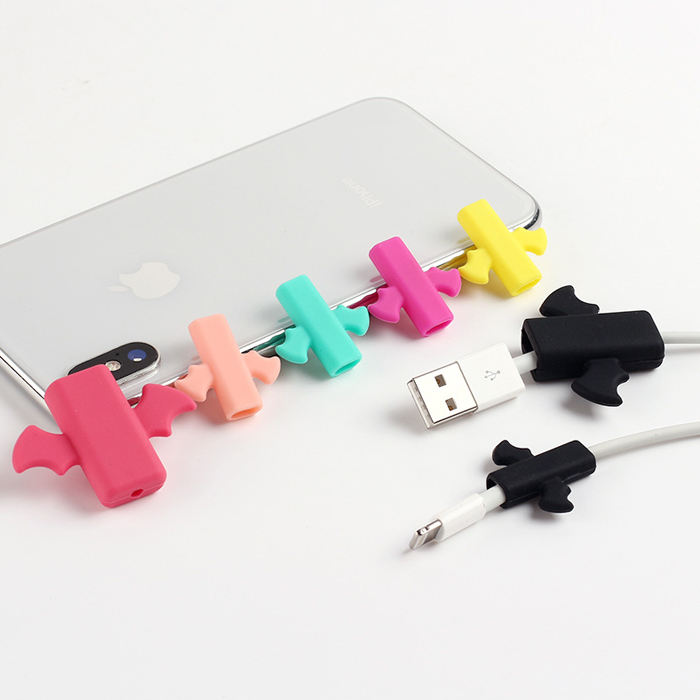 iPhone Cable Silicone USB Cable Protector Cable Winder Protective Case Cover