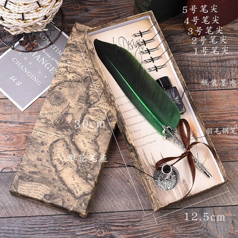 Beautiful Luxury Best Gifts Quill Fountain Pen Feather Pen