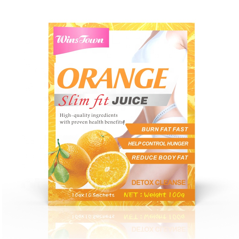 Winstown fit juice Weight loss instant juice powder with kiwi orange flavor