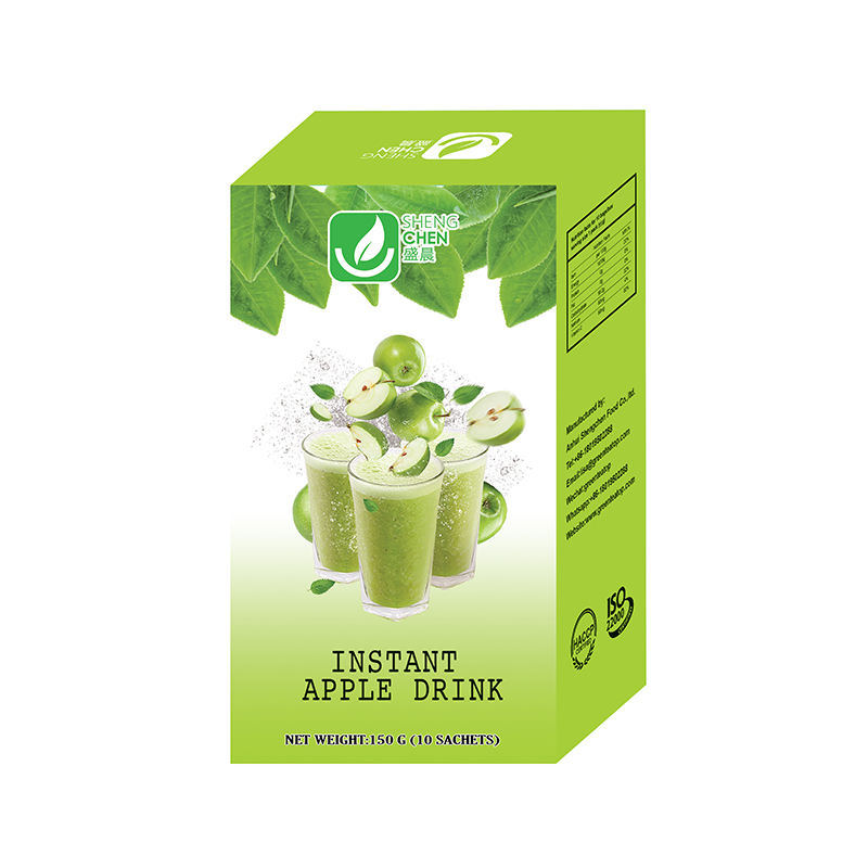 Hot sale 15g*10sachets/box flavored instant apple drink for glowing skin