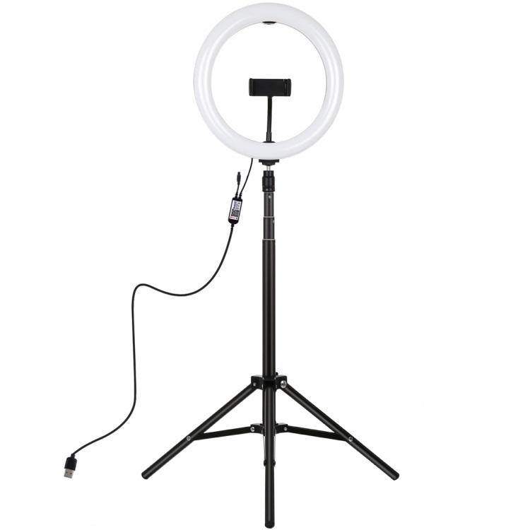 One Stop Shopping 26cm RGBW Selfie Video LED Ring Light with 1.65m Tripod