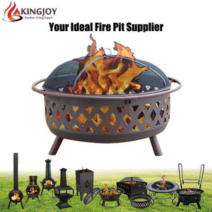 Customized Big deep fire bowl outdoor wood burning fire pit with customized patterns