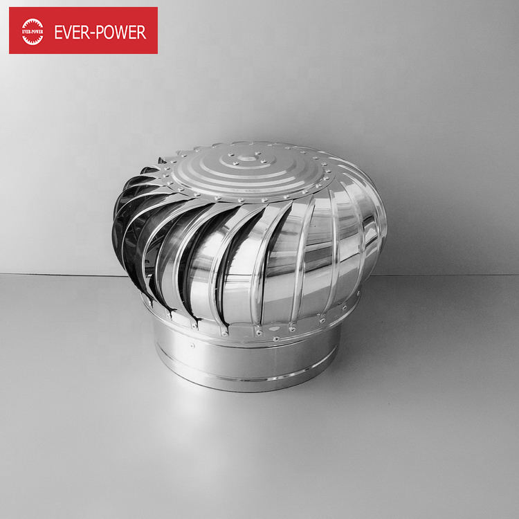 Stainless Steel powerless roof fan Natural Wind roof ventilator 100/150 Type For Factory Workshop